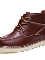 Men's Boots Spring / Summer / Fall / Winter Fashion Boots Leather Office & Career / Party & Evening / Casual Flat Heel