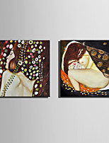 Canvas Set Nude / Abstraktit muotokuvat European Style,2 paneeli Kanvas Neliö Tulosta Art Wall Decor For Kodinsisustus