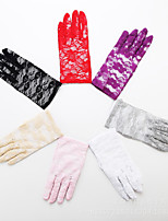Dance Accessories Stage Performance Full Finger Wrist Length Lace Gloves Night Club Lace Gloves Active Lace Gloves