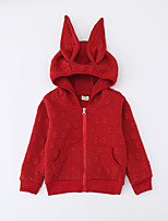 Girl's Casual/Daily Solid Jacket & CoatCotton Winter Pink / Red