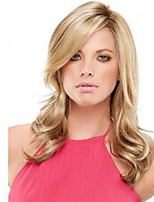 Capless Mix Color Medium Length Good Quality Natural Wave Hair Synthetic Wig with Full Bang