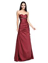 2017 Lanting Andar de comprimento tafetá vestido elegante dama de honra bride® - uma linha withbeading querida
