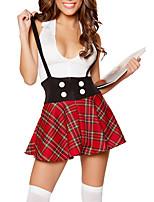 Costumes de Cosplay / Costume de Soirée Cosplay Fête / Célébration Déguisement Halloween Rouge A Carreaux Haut / Jupe Halloween / Carnaval