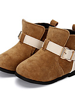 Girl's Boots Winter Fashion Boots / Comfort Pigskin / Casual Flat HeelBuckle / Others / Magic