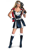 Cosplay Costumes Super Heroes Movie Cosplay Silver Solid Dress / Shawl / Gloves / Headwear Halloween / Carnival Female Polyester