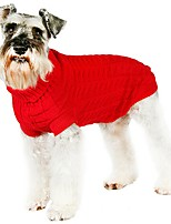Solid Color Winter Warm Sweater Dogs Clothings for Pets Puppy Dogs (Assorted Sizes and Colours)