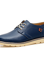 Men's Oxfords Spring / Summer / Fall / Winter Others PU Casual Flat Heel Others / Lace-up Black / Blue / Brown