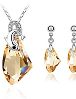 Thousands of colors Jewelry Necklaces / Earrings Jewelry set Crystal Fashion Daily 1set Women -4098