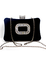 Women Velvet Formal / Event/Party / Wedding Evening Bag/Velvet Diamonds Bag/Purse/Clutch/Square Buckle