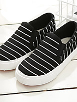 Boy's Loafers & Slip-Ons Comfort Canvas Casual Black White
