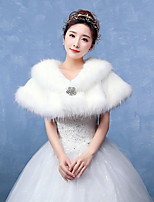Women's Wrap Capelets Faux Fur Wedding / Party/Evening Pattern