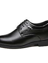 Women's Oxfords Spring / Fall Comfort PU Casual Flat Heel Others / Lace-up Black Others