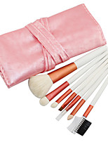 7 Makeup Brushes Set Goat Hair Professional / Portable Wood Face / Eye / Lip