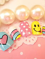 Nail Art Products 24 Pieces Of Colorful Nail Nails Patch The Rainbow