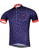 Sportif Maillot de Cyclisme Homme Manches courtes VéloRespirable / Séchage rapide / Design Anatomique / Zip frontal / Anti-transpiration