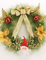 Christmas Wreath 3 Colors Pine Needles Christmas Decoration For Home Party Diameter 40cm Navidad New Year Supplies