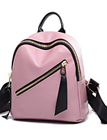Casual Outdoor Backpack Women PU Polyester Pink Blue Gray Black