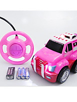 Car Racing 566-15B 1:10 Brush Electric RC Car / 2.4G Pink Ready-To-Go Remote Control Car
