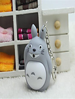 Cartoon Totoro Keychain LED Sound Emitting Light