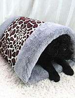 Cat / Dog Bed Pet Mats & Pads Foldable / Soft Brown / Khaki Fabric