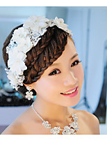 Wedding Veil One-tier Headpieces with Veil Pearl Trim Edge Lace