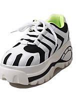 Черный-Женский-На каждый день-Полиуретан-На плоской подошве-Удобная обувь-На плокой подошве