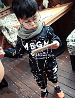 Boy's Casual/Daily Print Clothing SetCotton Fall Black