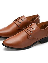 Men's Oxfords Fall Comfort Microfibre Casual Flat Heel Lace-up Brown