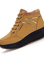 Желтый / Красный-Женский-На каждый день-Полиуретан-На плоской подошве-Удобная обувь-На плокой подошве