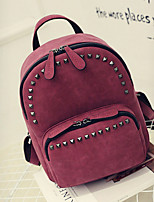 Women PU Casual Backpack Red / Gray / Black