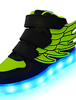 Jungen-Sneaker-Outddor Lässig Sportlich-Leder-Niedriger Absatz-Komfort Light Up Schuhe-Schwarz Blau Rosa Rot Weiß Hellgrün