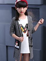 Girl's Casual/Daily Print Sweater & Cardigan / Jacket & CoatCotton Fall Red / Gray