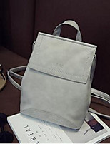 На каждый день Для отдыха на природе Рюкзак Для женщин Полиуретан Розовый Синий Серый Черный