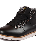 Men's Fashion Boots Work & Safety PU Outdoor Flat Heel Lace-up Black / Blue / Yellow Walking EU39-43