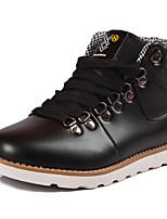 Черный / Синий / Желтый-Мужской-Для прогулок-Полиуретан-На плоской подошве-Обувь в рабочем / военном стиле-Ботинки