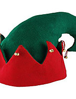 1PC Red Green Clown Hat For Halloween Costume Party