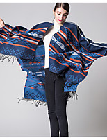 Women Acrylic ScarfVintage RectangleRed / Black / Blue / PurplePatchwork