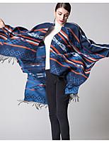 Women Acrylic ScarfVintage RectangleRed / Black / Blue / PurplePatchwork