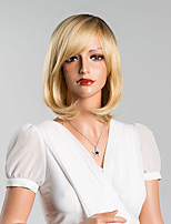 Amazing and Sweet Short Bob Hairstyle with Side Bang Capless Wigs High Quality Human Hair