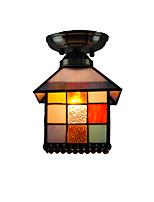 20cm Retro Tiffany Ceiling Lamp Glass Shade Flush Mount Living Room Bedroom Dining Room Kids Room light Fixture