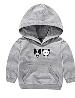 Boy's Casual/Daily Solid Hoodie & SweatshirtCotton Spring / Fall Red / White / Gray