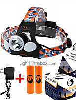 Lights Flashlight Lanyard LED 6000LM Lumens 4 Mode Cree XM-L T6 18650 Rechargeable / Compact Size / High PowerCamping/Hiking/Caving /