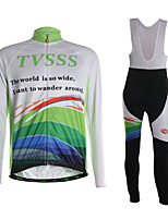 Sports Cycling Jersey with Bib Tights Men's Long Sleeve Breathable / Thermal /3D Pad / Ultra Light Fabric / Comfortable