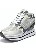 Women's Sneakers Spring / Fall Comfort PU Casual Flat Heel  Blue / Pink / Gray Sneaker
