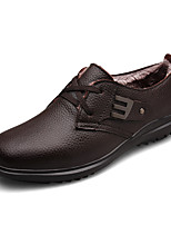 Men's Oxfords Fall / Winter Comfort PU Casual Flat Heel Others / Lace-up Black / Brown Walking