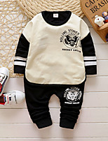 Boy's Casual/Daily Color Block Clothing SetCotton Fall White