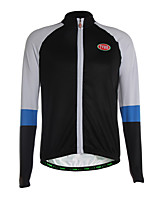 Sports Cycling Jersey Men's Long Sleeve Breathable / Warm /Back Pocket / Ultra Light Fabric Bike Jersey