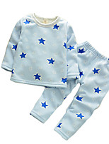 Unisex Casual/Daily Solid Sets,Cotton Spring / Fall Long Sleeve Clothing Set