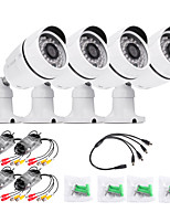 TWVISION 1000TVL Waterproof H.264 AHD Ourdoor CCTV Surveillance Security  Camera 4pcs