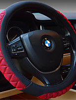 Black And Red Sports Leather Ice Wire Steering Wheel Cover